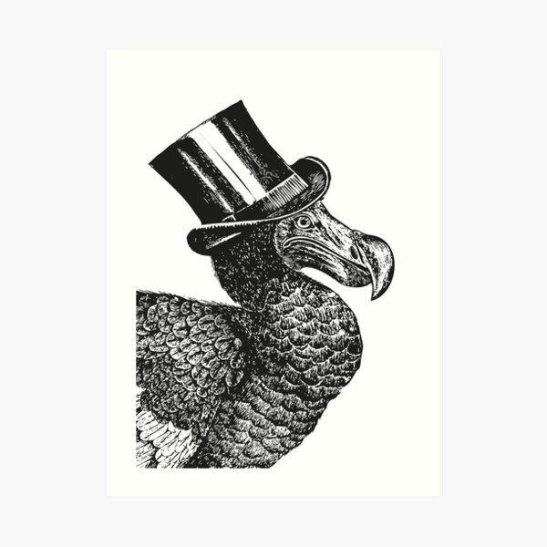 Mr Dodo | Vintage Dodos | Black and White |  Art Print