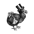 Mr Dodo   Vintage Dodos   Black and White    by EclecticAtHeART