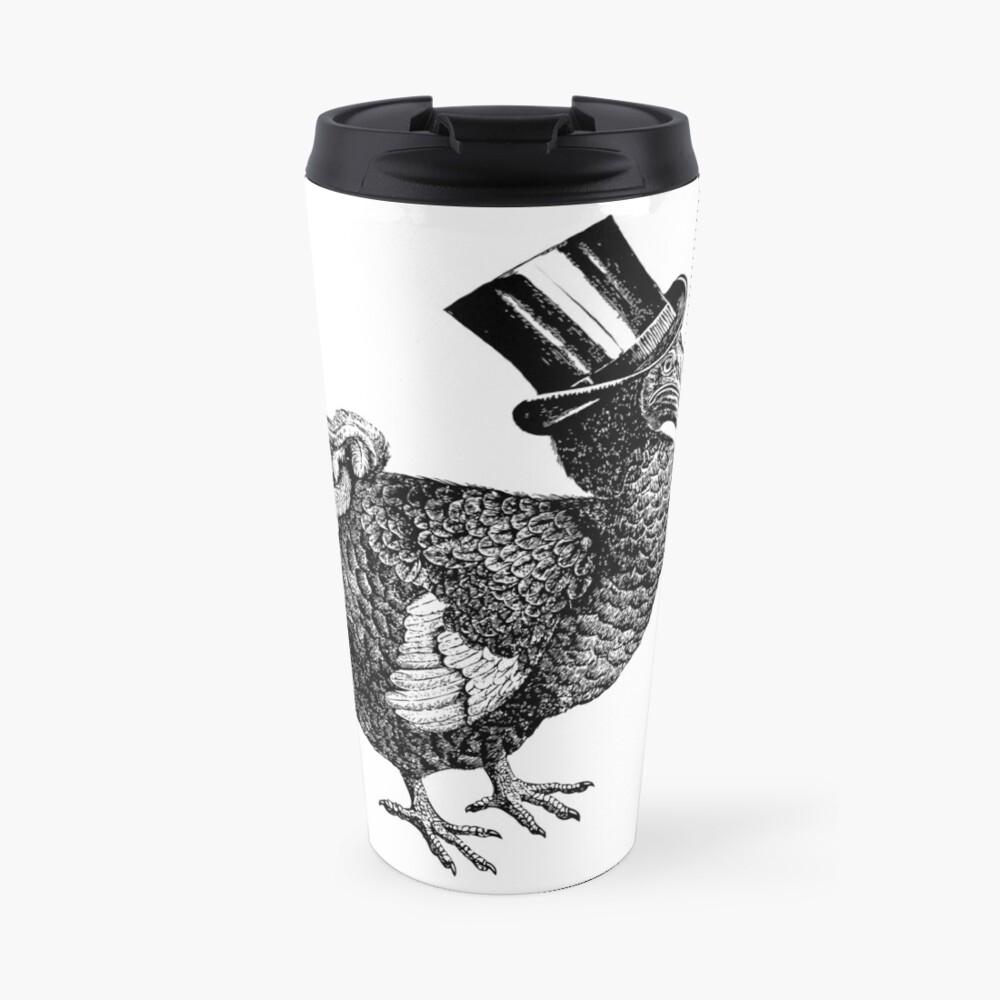 Mr Dodo | Vintage Dodos | Black and White |  Travel Mug