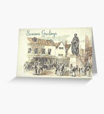 Vintage Tamworth Christmas Card Greeting Card
