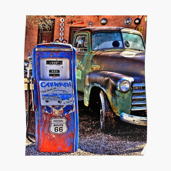 Rustic Route 66 Arizona Poster