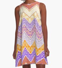 Clemson Floral Pattern Gameday Dress A-Line Dress