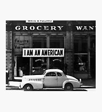 I Am An American Photo by Dorothea Lange 1942 Photographic Print