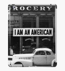 I Am An American Photo by Dorothea Lange 1942 iPad Case/Skin