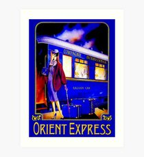 ORIENT EXPRESS: Vintage Train Passenger Travel Print Art Print