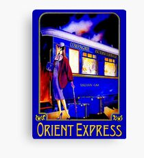 ORIENT EXPRESS: Vintage Train Passenger Travel Print Canvas Print
