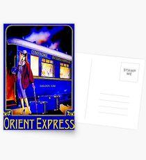 ORIENT EXPRESS: Vintage Train Passenger Travel Print Postcards