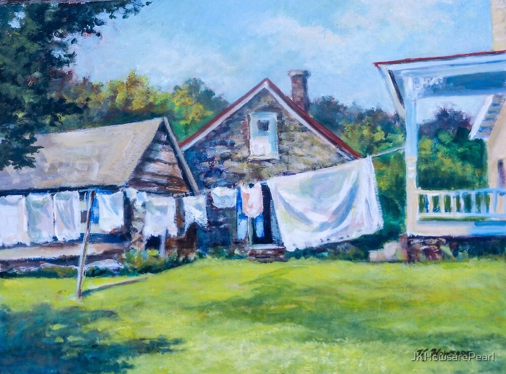 Clothes On The Line at Linden Farm by JKHowsarePearl