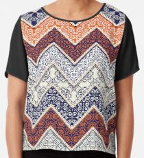 262723fe8fd2 Auburn Floral Pattern Gameday Dress Chiffon Top