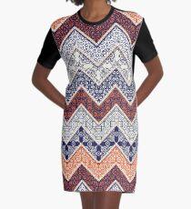 Auburn Floral Pattern Gameday Dress Graphic T-Shirt Dress
