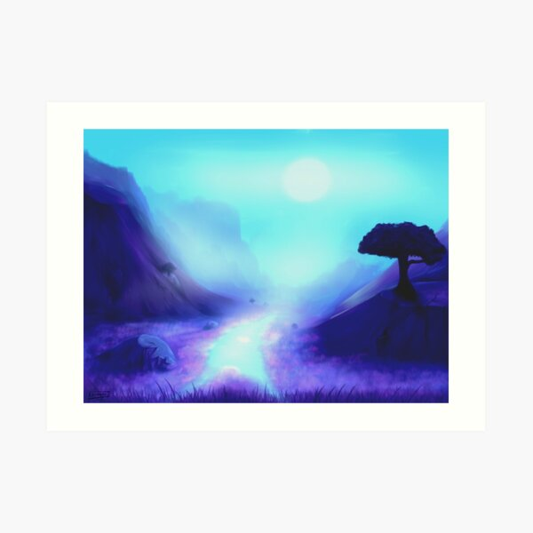 Mystical Twilight Landscape Art Print