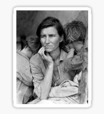 Migrant Mother by Dorothea Lange, 1936  Sticker