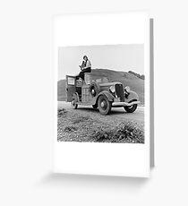 Dorothea Lange on Car, 1936 Greeting Card