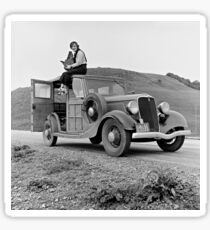 Dorothea Lange on Car, 1936 Sticker