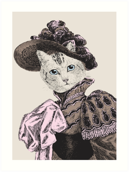Pussycat Portrait | No. 2 of 2 from The Owl and the Pussycat Set by EclecticAtHeART