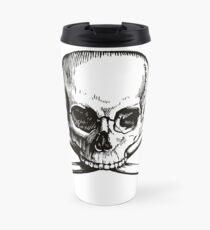 Skull and Crossbones | Black and White Travel Mug