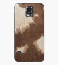 Brown Cowhide Case/Skin for Samsung Galaxy