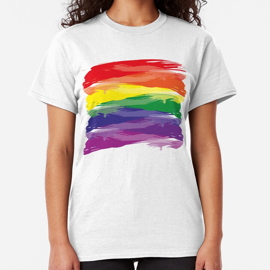 Abstract Rainbow   Rainbow Colors   Stripe Patterns   Striped Patterns   Classic T-Shirt