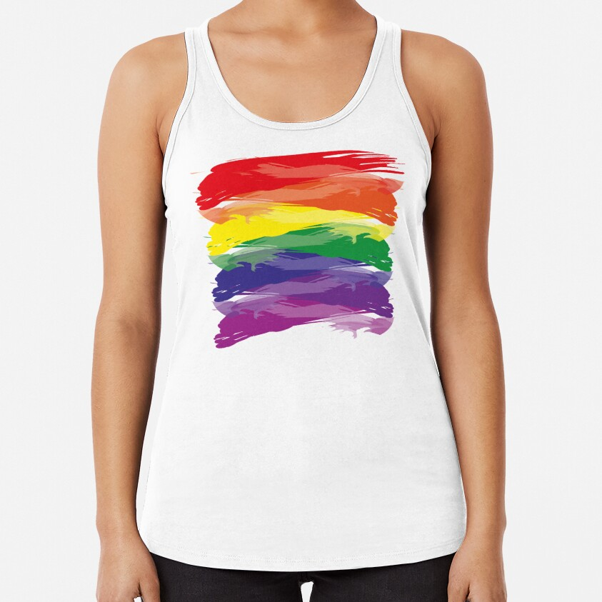 Abstract Rainbow | Rainbow Colors | Stripe Patterns | Striped Patterns | Racerback Tank Top