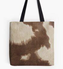Brown Cowhide Tote Bag