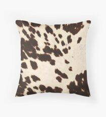 Brown Cowhide 2 Throw Pillow