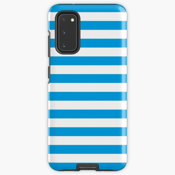 Turquoise Blue and White Stripes | Stripe Patterns | Striped Patterns | Samsung Galaxy Tough Case