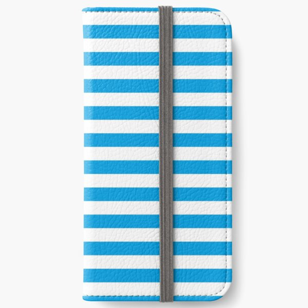 Turquoise Blue and White Stripes   Stripe Patterns   Striped Patterns   iPhone Wallet