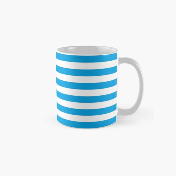 Turquoise Blue and White Stripes | Stripe Patterns | Striped Patterns | Classic Mug