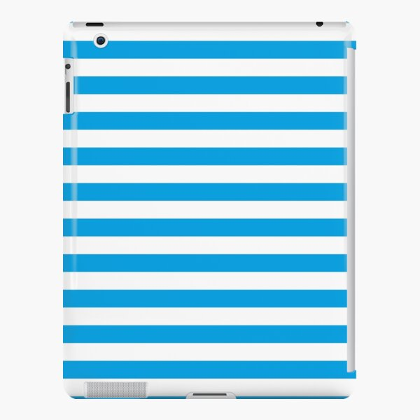 Turquoise Blue and White Stripes | Stripe Patterns | Striped Patterns | iPad Snap Case
