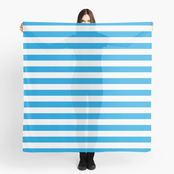 Turquoise Blue and White Stripes | Stripe Patterns | Striped Patterns | Scarf