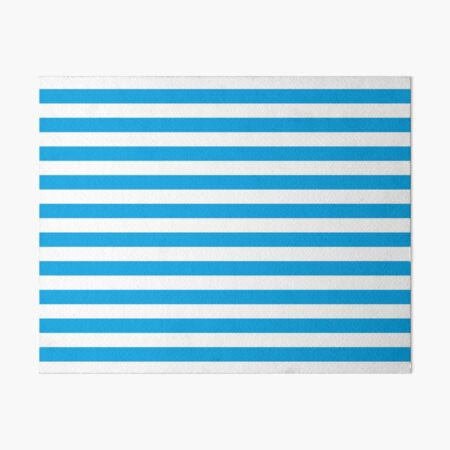 Turquoise Blue and White Stripes | Stripe Patterns | Striped Patterns | Art Board Print