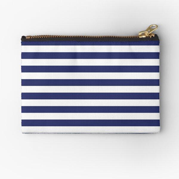 Navy Blue and White Stripes   Stripe Patterns   Striped Patterns   Zipper Pouch