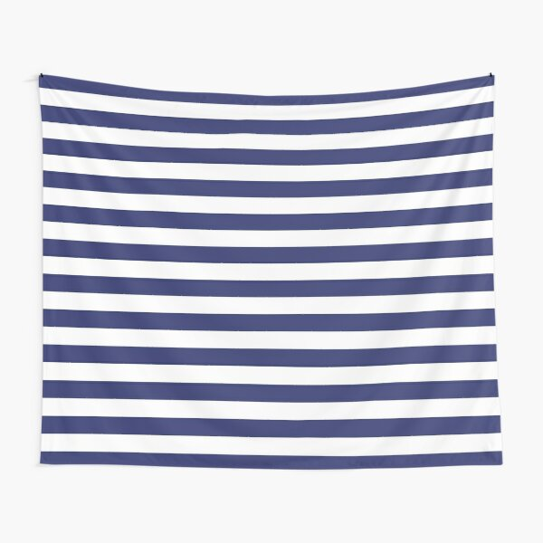 Navy Blue and White Stripes | Stripe Patterns | Striped Patterns | Tapestry