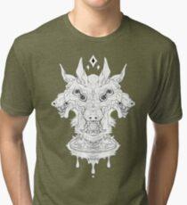 Cerberus -White- Tri-blend T-Shirt