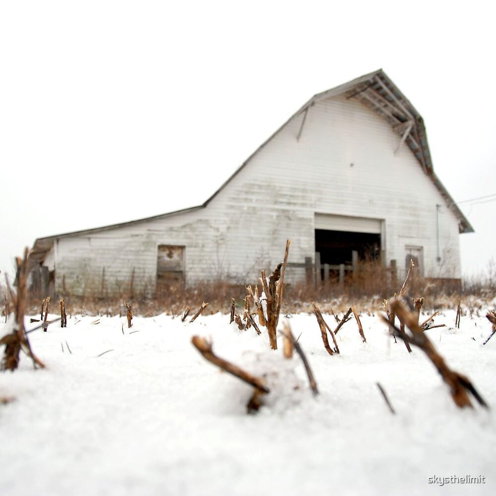 Snow Barn by skysthelimit
