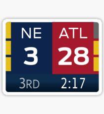 Patriots 28-3 Super Bowl Scoreboard Sticker