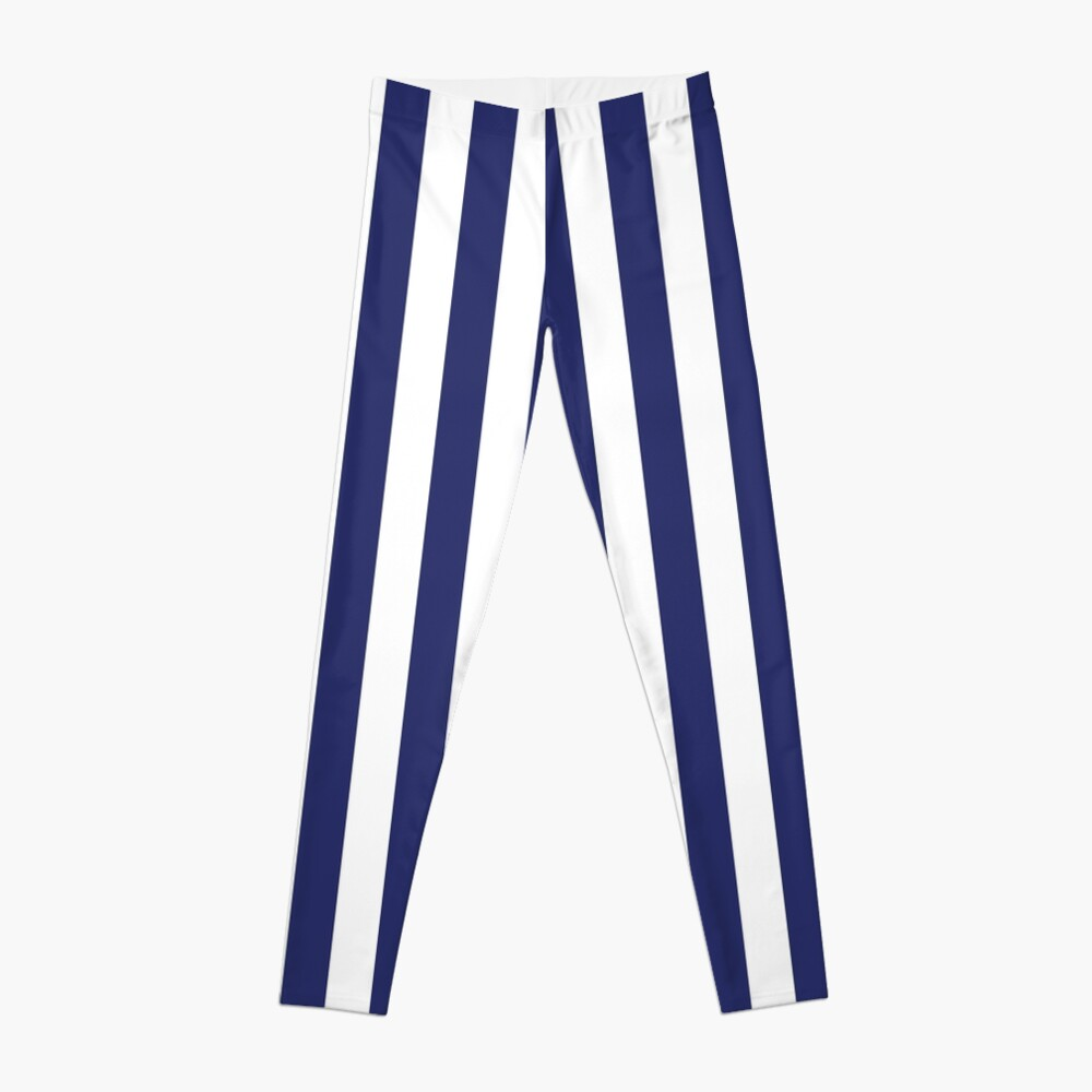 Navy Blue and White Stripes | Stripe Patterns | Striped Patterns | Leggings