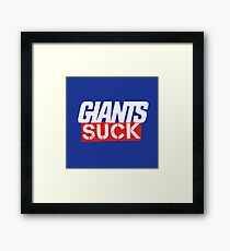 Giants Suck Framed Print