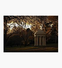 Winter Afternoon in Fitzroy Gardens, Melbourne, Australia Photographic Print