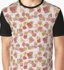 Almost Mauve Falling Leaves in Winter Color Trends Graphic T-Shirt