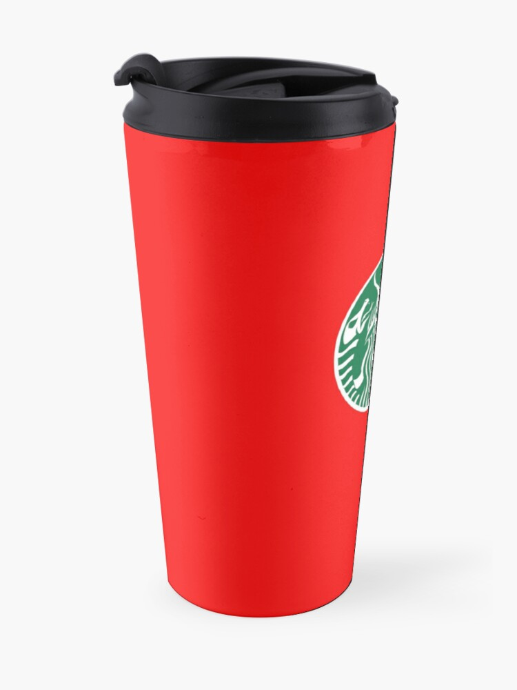 Alternate view of Red Cup Baphomet Travel Mug