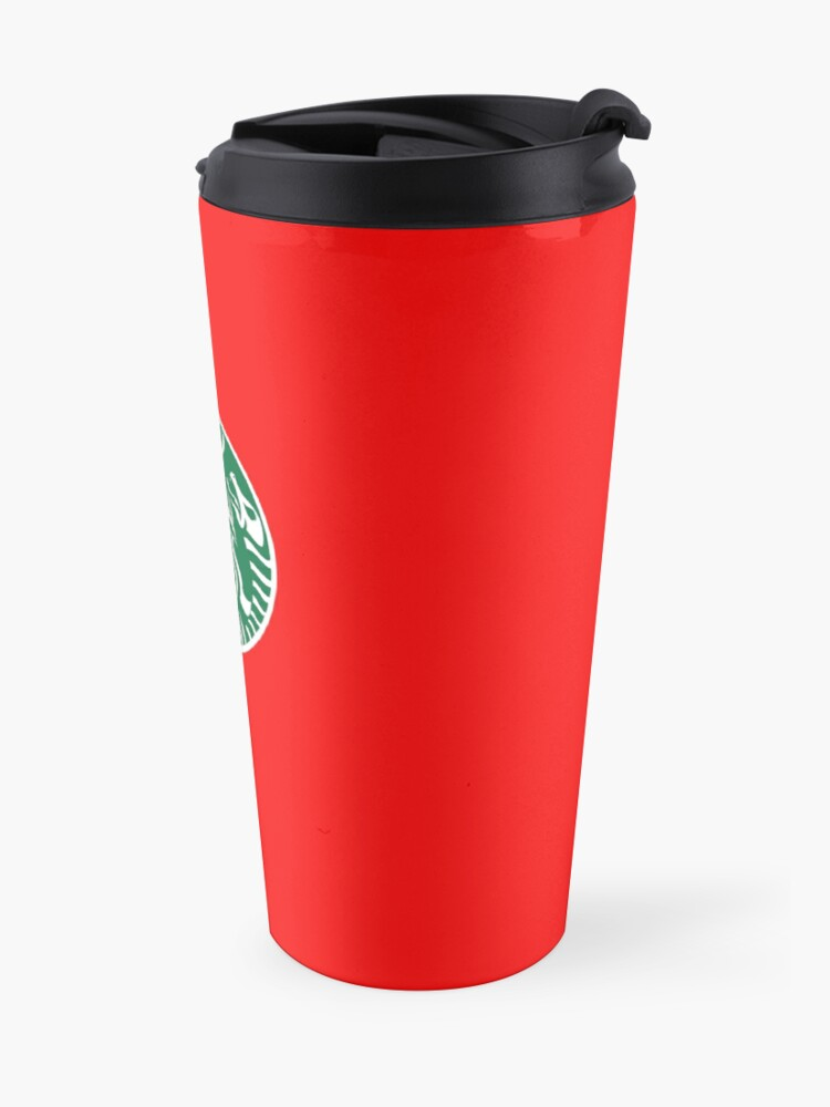 Alternate view of Red Cup Baphomet Travel Mug
