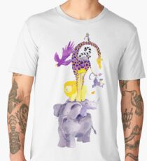Amazing balancing acrobatic animals Men's Premium T-Shirt