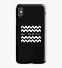 Twin Peaks: What year is this? iPhone Case/Skin