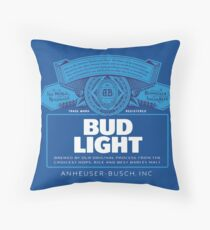 Bud Light Throw Pillow