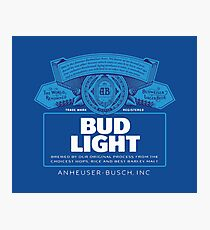 Bud Light Photographic Print