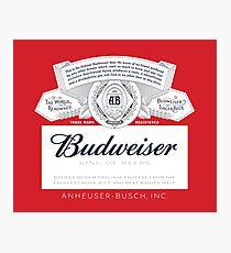 Budweiser Photographic Print