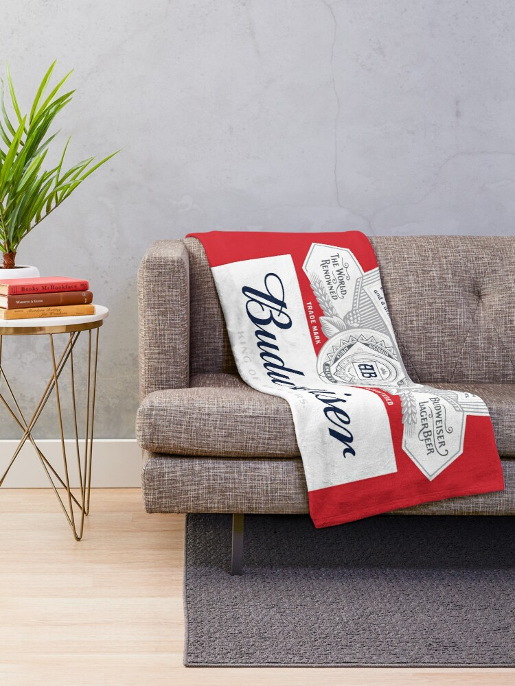Alternate view of Budweiser Throw Blanket