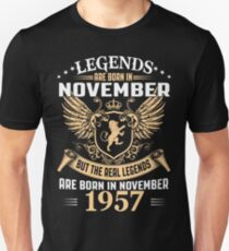 Legends Are Born In November 1957 T-Shirt