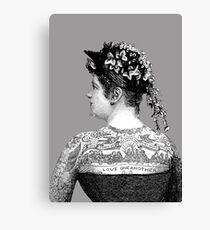 Tattooed Victorian Woman Canvas Print